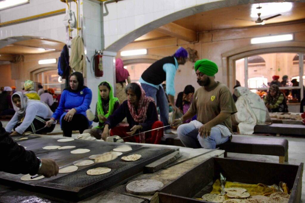 Roti assembly line