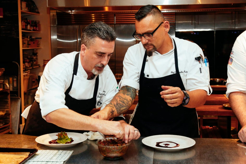Lynmar Estate Chef David Frakes and his long-lost brother, Chef Chris Frakes, are working together in the kitchen for the first time since their reunion.