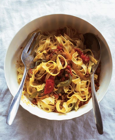 Veal Pasta Sauce with Peppers