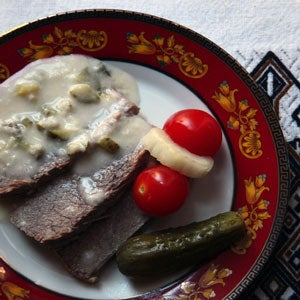 Boiled Beef with Horseradish Sauce