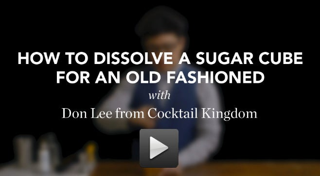 VIDEO: How to Dissolve a Sugar Cube for an Old Fashioned