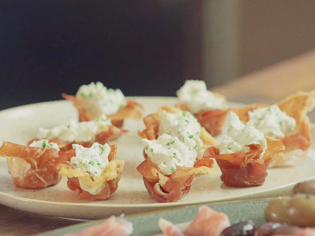 Prosciutto Cups with Cheese