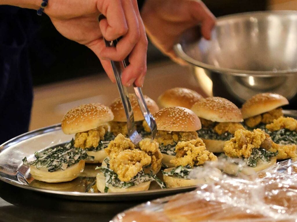 These fried oyster sliders were a crowd favorite