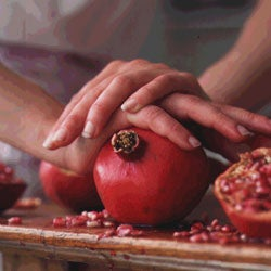 Juicing a Pomegranate