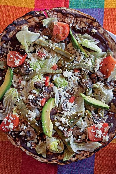 a Oaxacan, tostada-like snack
