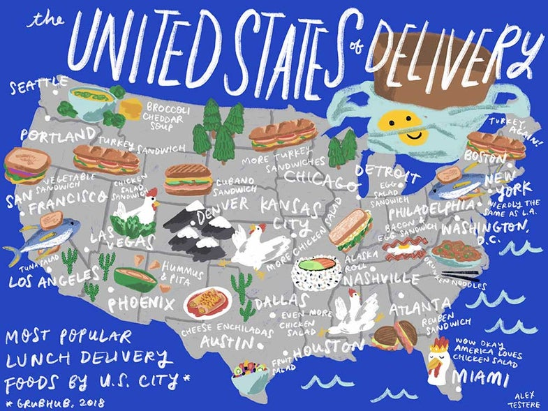 The United States of Lunch Delivery