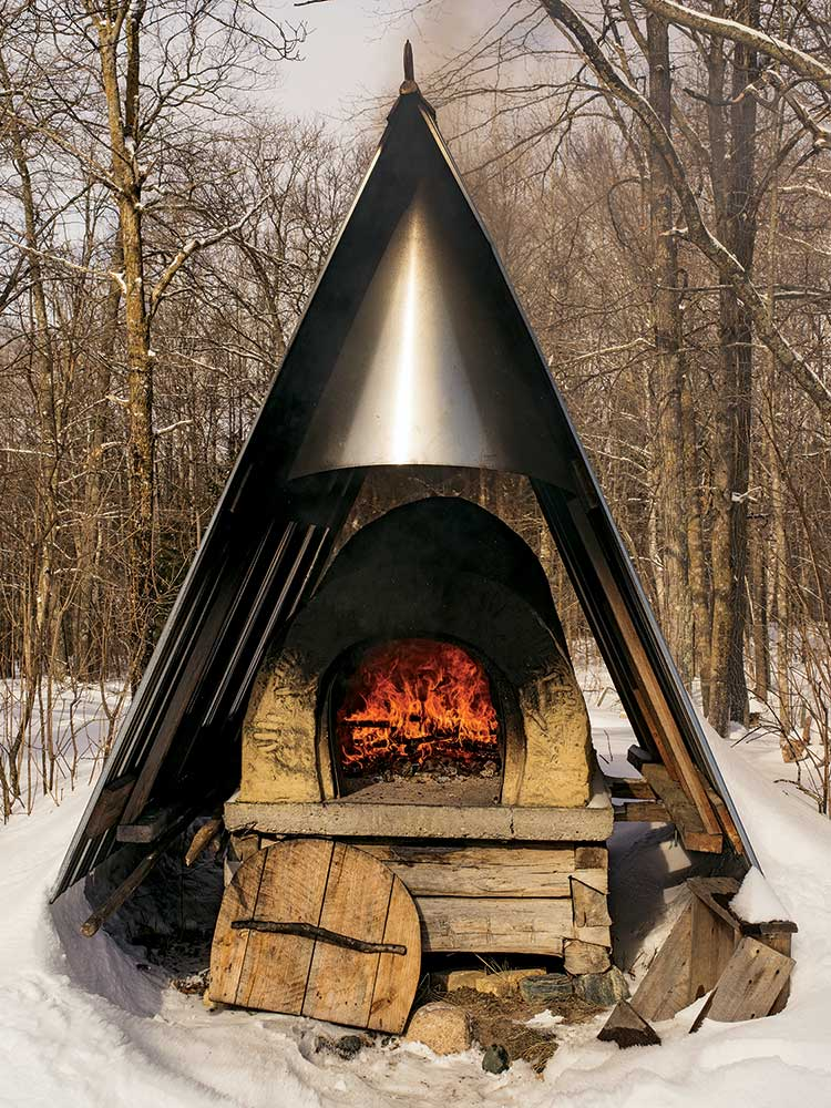wood fire clay oven