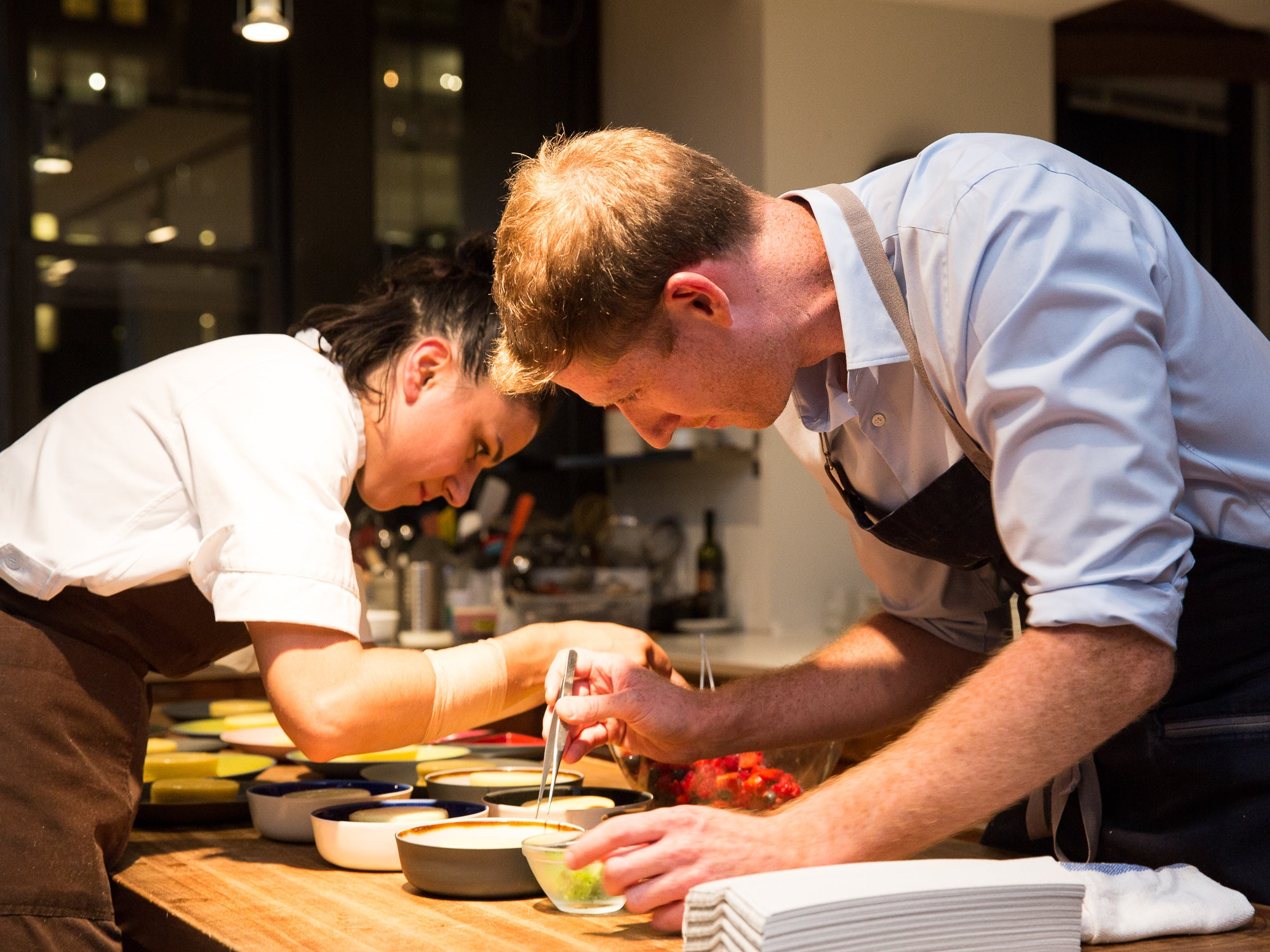 Scenes From Our SAVEUR Supper with Greg Baxtrom