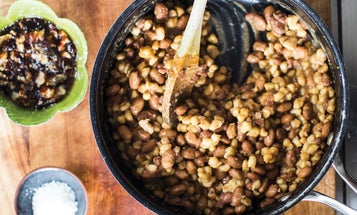 Samp and Beans with Smoked Pork Lard
