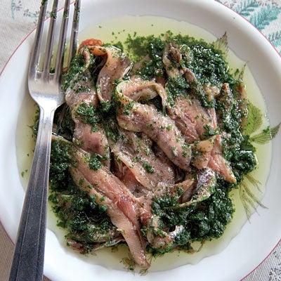 Acciughe Con Salsa Verde (Anchovies in Green Sauce)