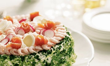 Swedish Sandwich Layer Cake (Smörgåstårta)