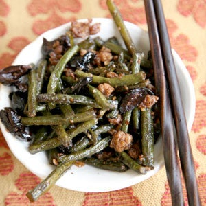 Wok-Charred Long Beans with Black Olives