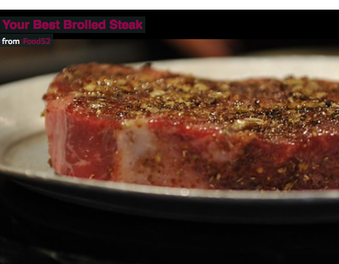 Broiled Steaks at Home