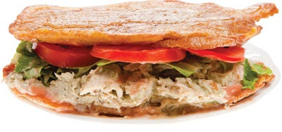 Fried Plantain Sandwich (Patacón Maracucho)
