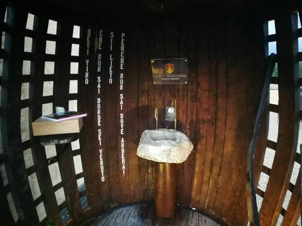 Wine fountain at Dora Sarchese Vineyard