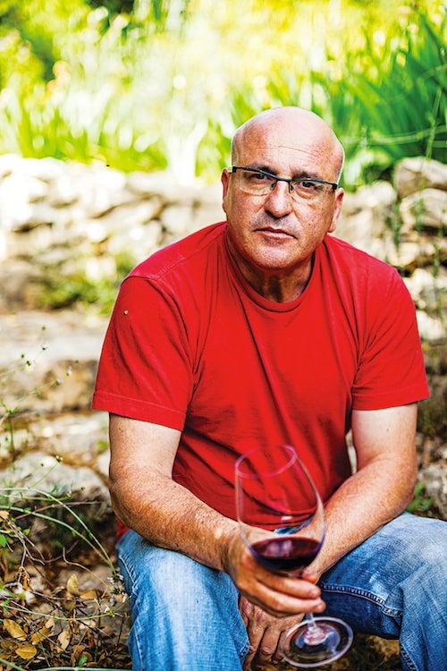 Erez Komarovsky at his garden in Mitzpe Matat