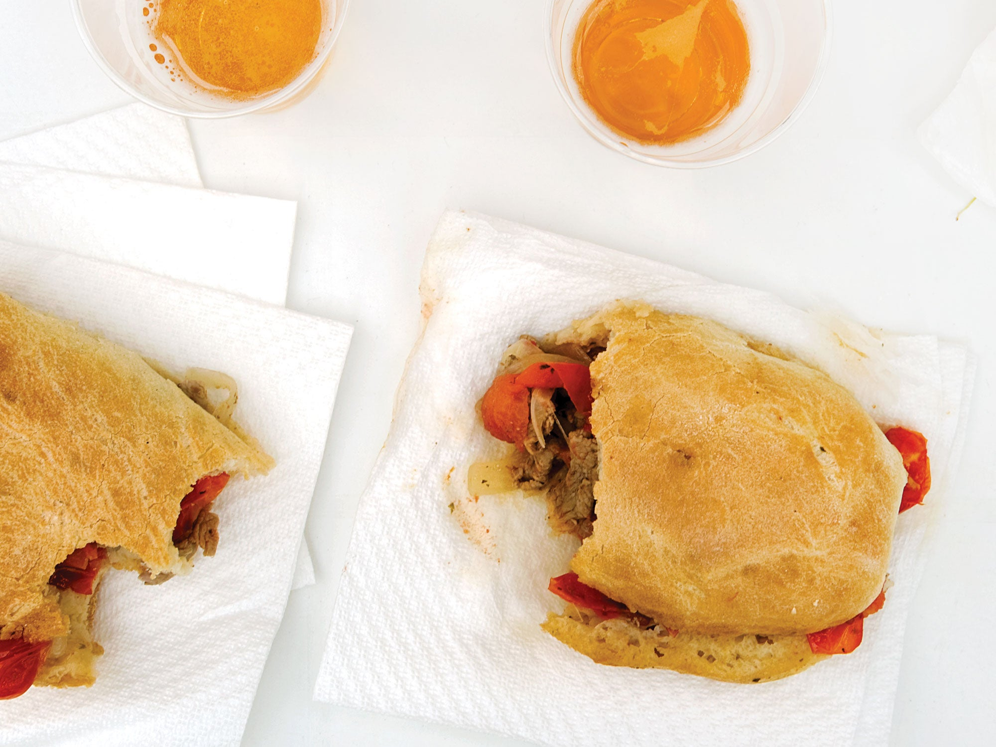 Calf's Liver, Caramelized Onion, and Tomato Sandwiches