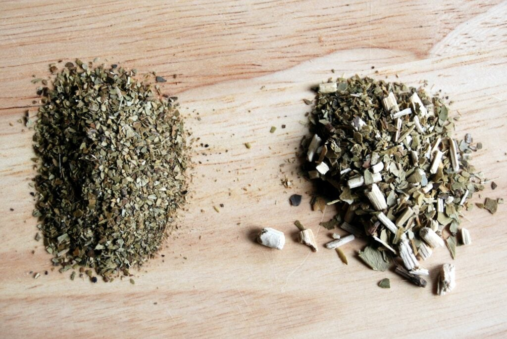 Yerba Mate tea leaves