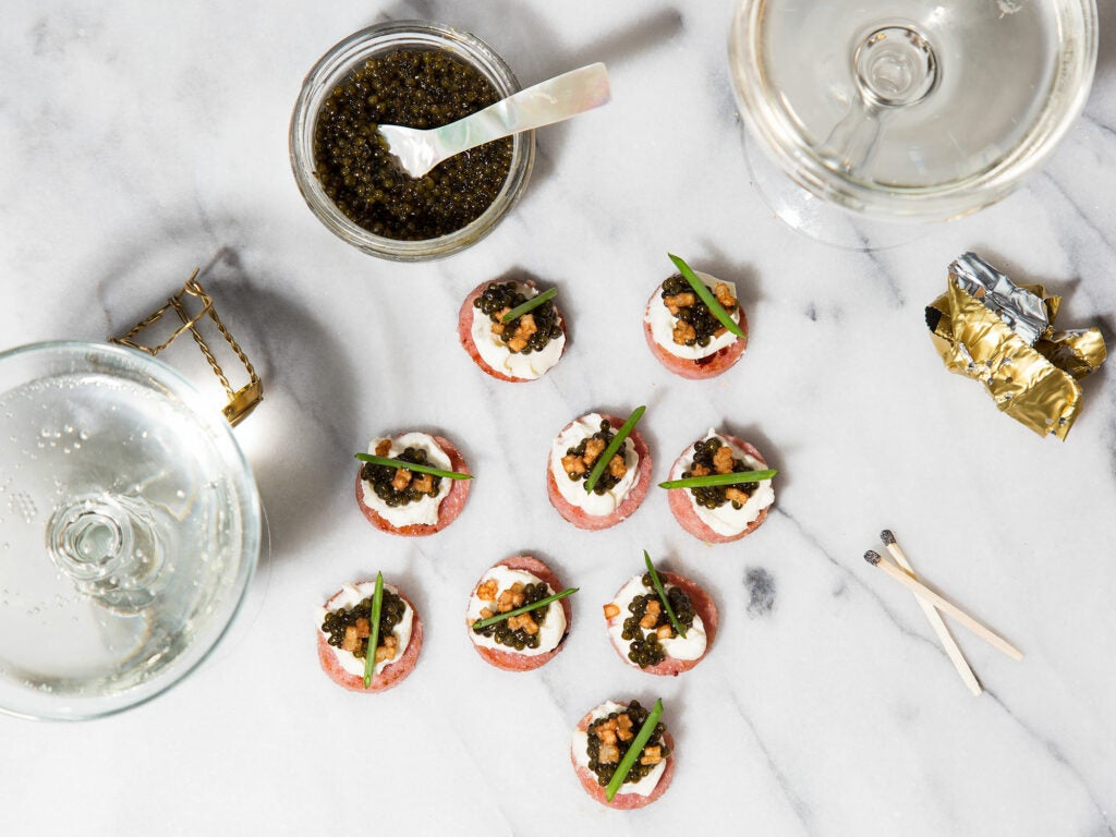 pork roll canapes