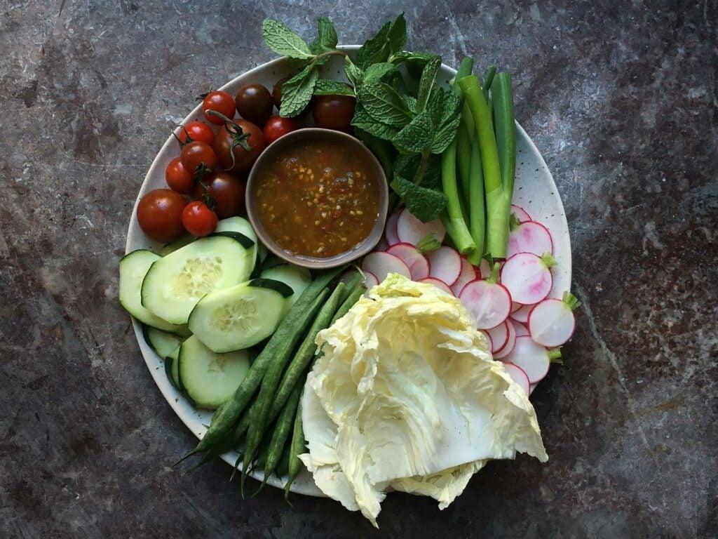 thai vegetable platter