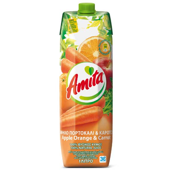 Apple, Orange, and Carrot Amita Juice