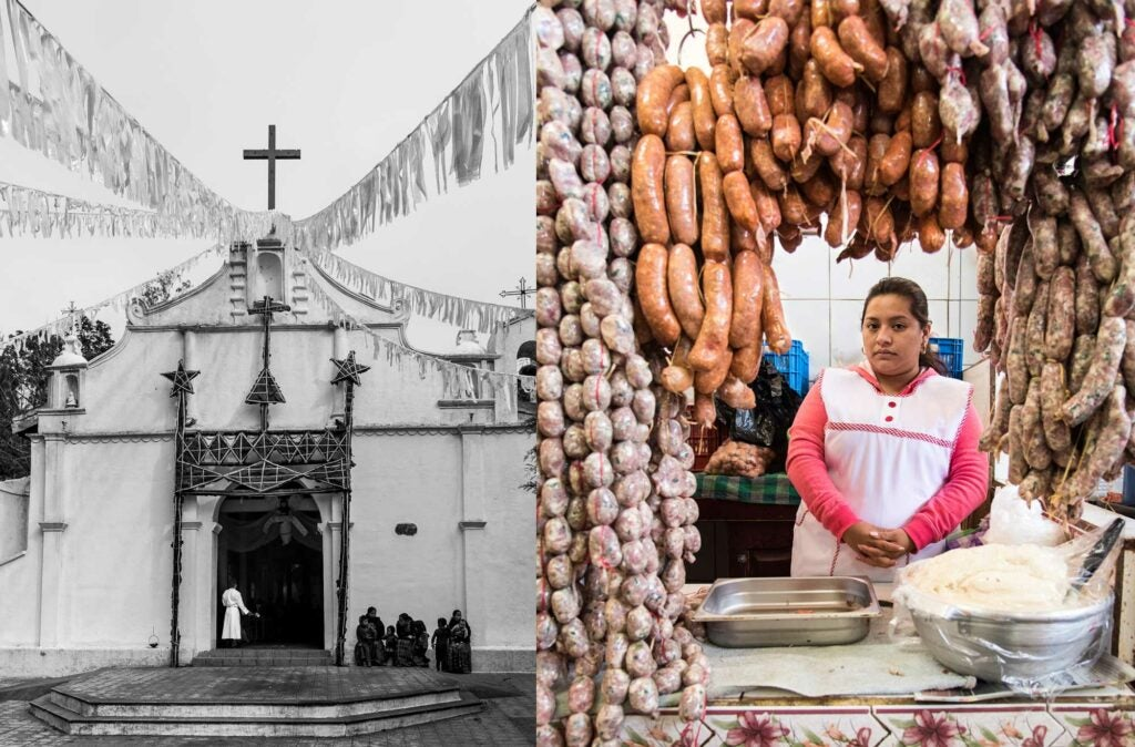 El Calvario Church, A Sausage Vendor