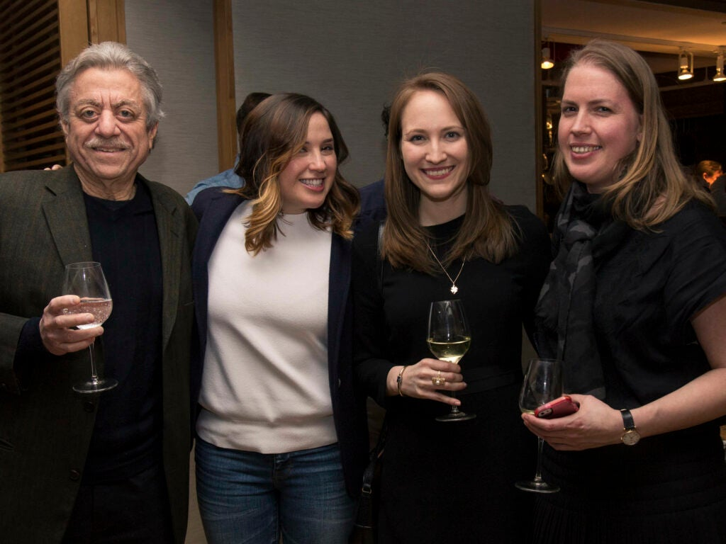 Restaurant writer Alan Richman, digital director Jessica Glavin, Jetty-Jane Connor, and Tanja Yokum