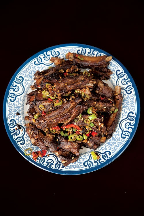 Triple-Cooked Spareribs with Chiles (Lu Rou)