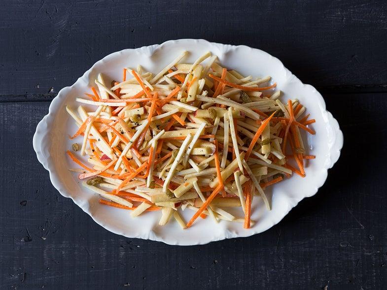 Apple, Celeriac, and Carrot Salad