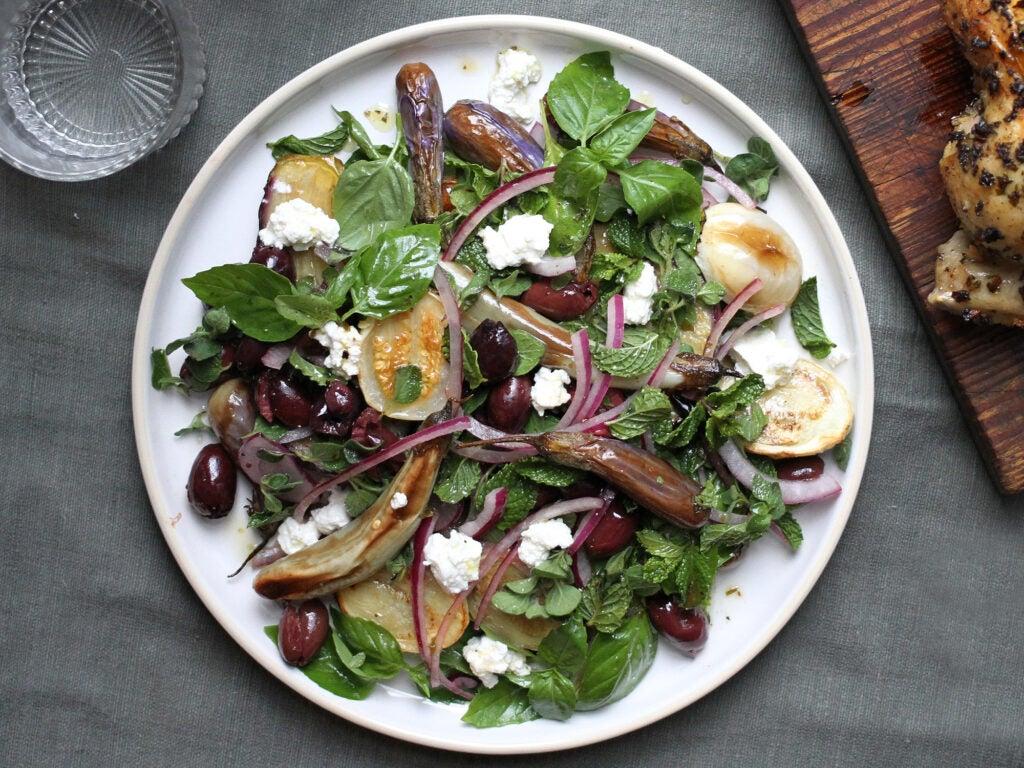 Chicken with Eggplant Salad