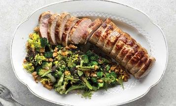 Crispy Pork With Seared Broccoli