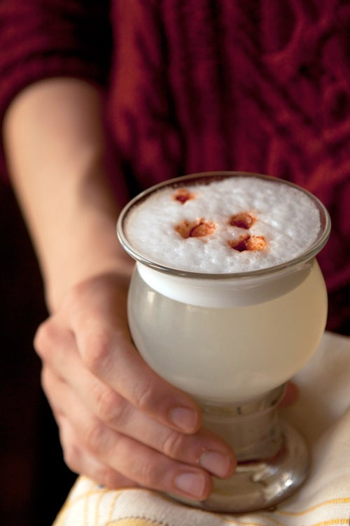 Herb-Infused Pisco Sour