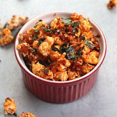 Savory Kimchi-Nori Popcorn