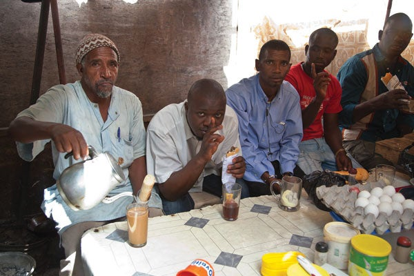 three-cup ritual in west Africa