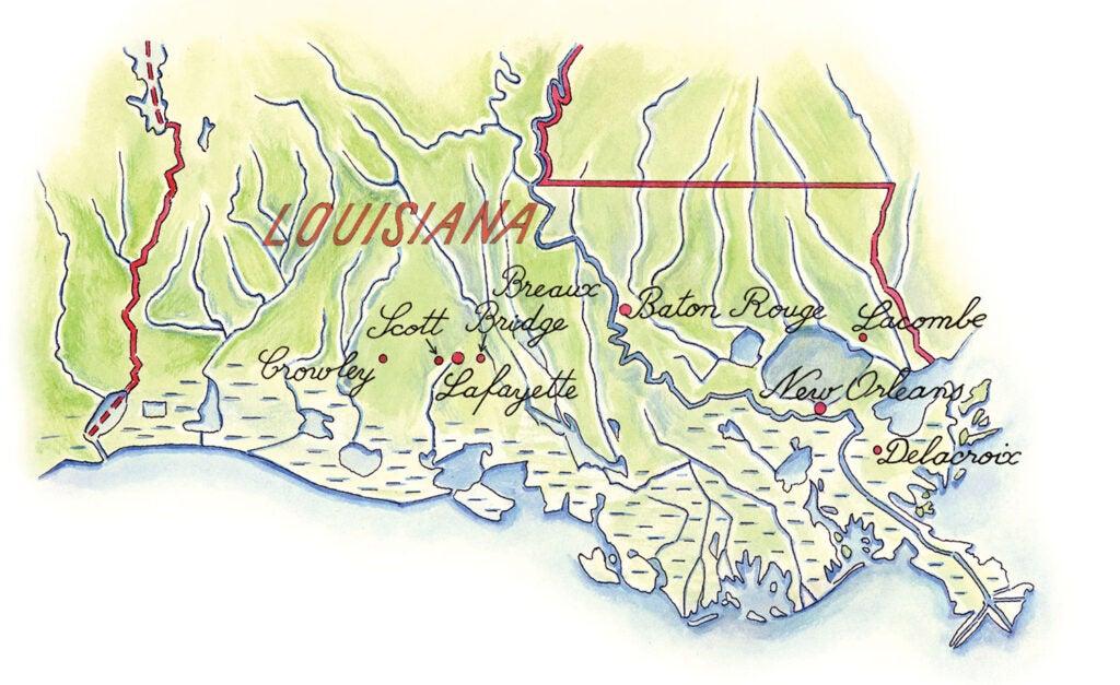 South Louisiana map