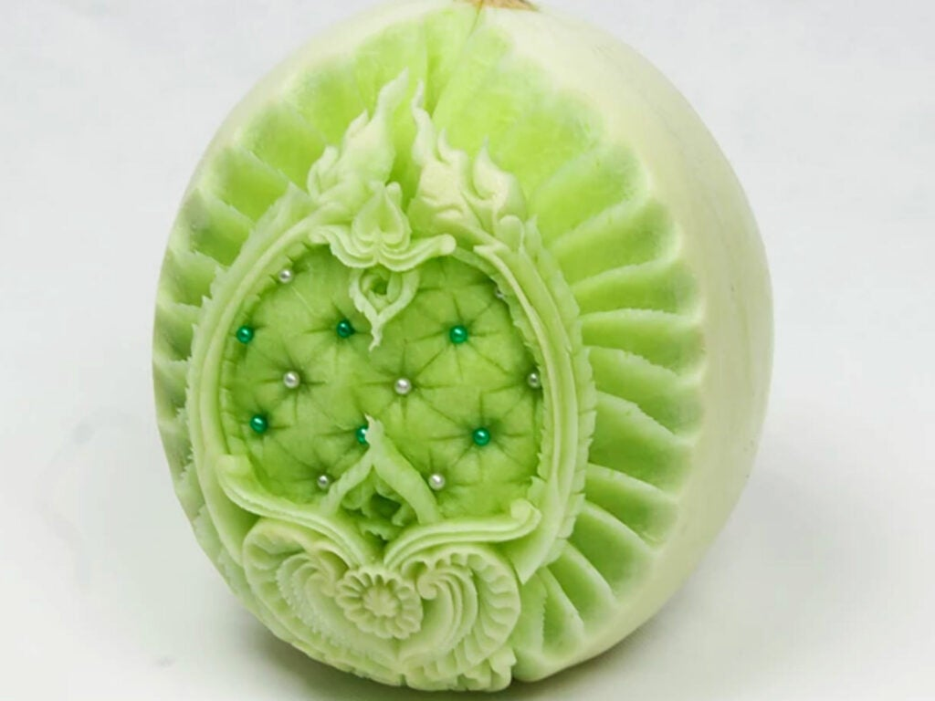 Carved Melon