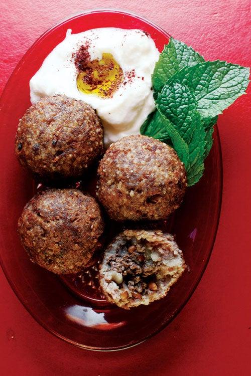 Kibbeh (Beef and Bulgur Wheat Meatballs)