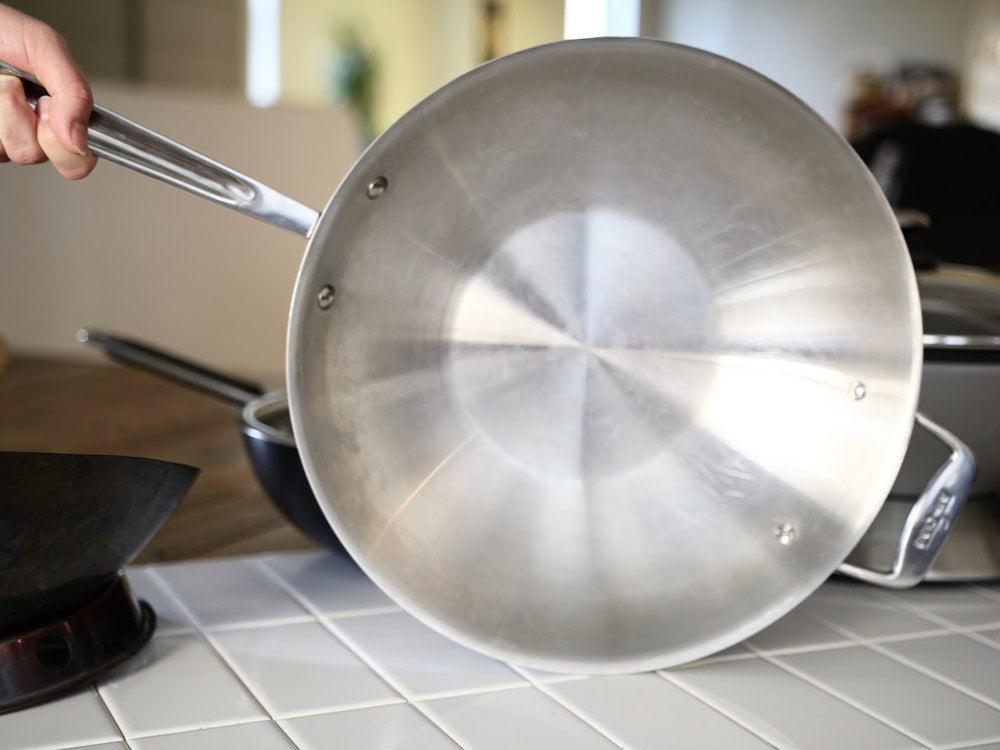 stainless steel wok skillet