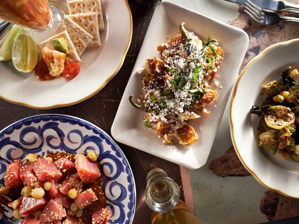 Doves Lunchonette table setting