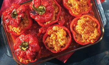 Stuffed Bell Peppers In Tomato Sauce