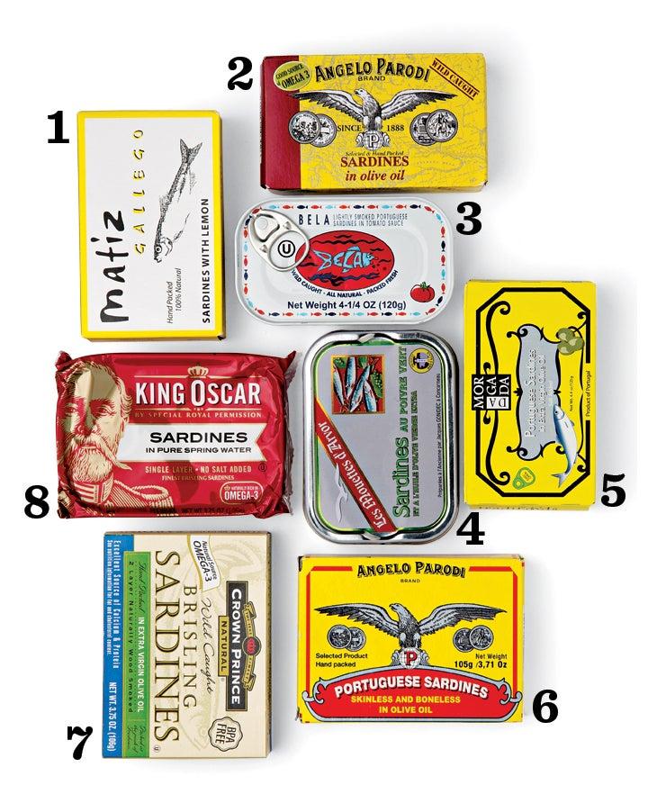 Eight Sardine Tins
