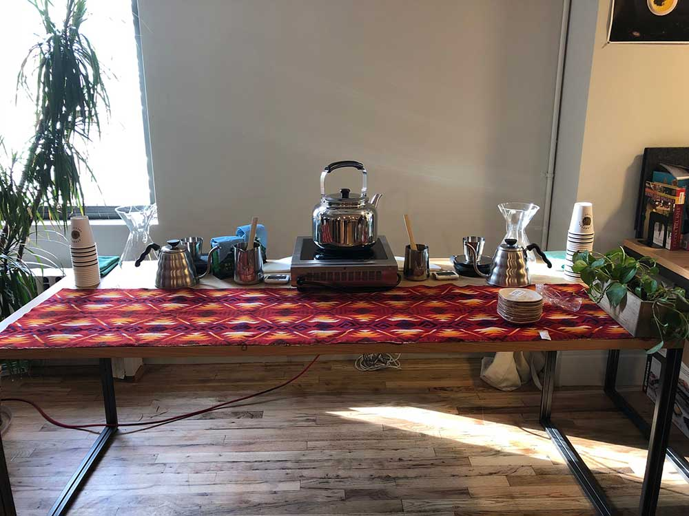 Stumptown set up a coffee table at the event