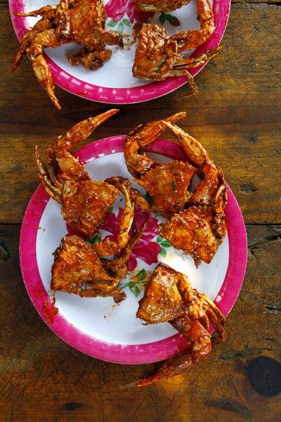 Pan-Fried Crabs in Chipotle Sauce (Jaibas Enchipotladas)