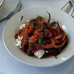 Squid with Feta Cheese and Tomatoes