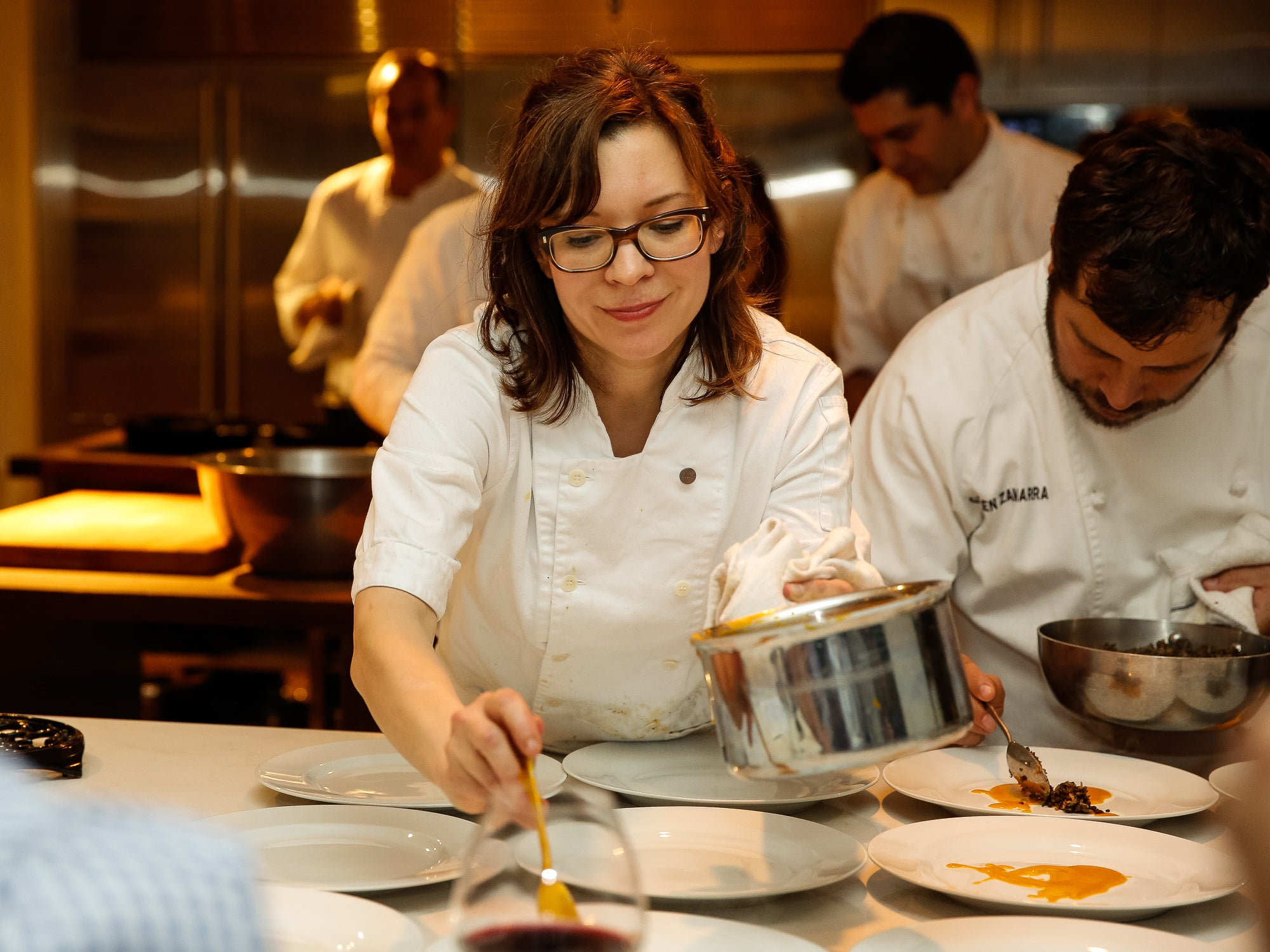 Scenes from SAVEUR supper with Chef Amy Thielen