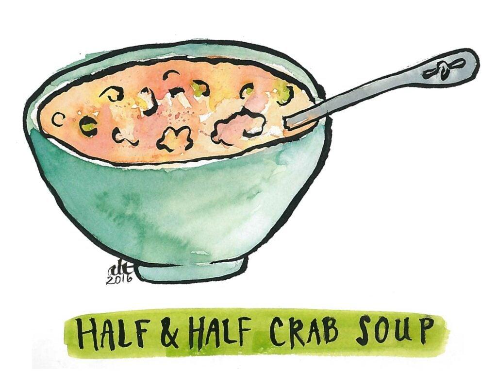 Half and Half Crab Soup