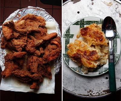 Menu: A Southern Fried Chicken Dinner