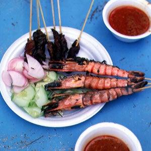 Shrimp and Lamb Satays