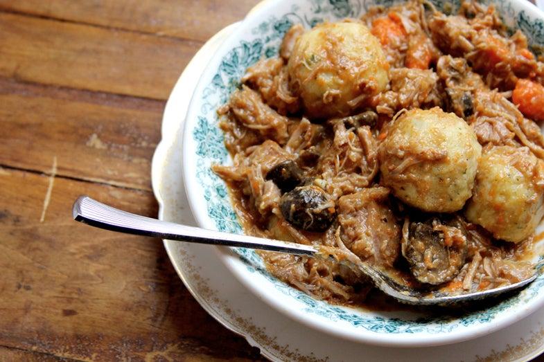 Veal Stew with Potato Dumplings