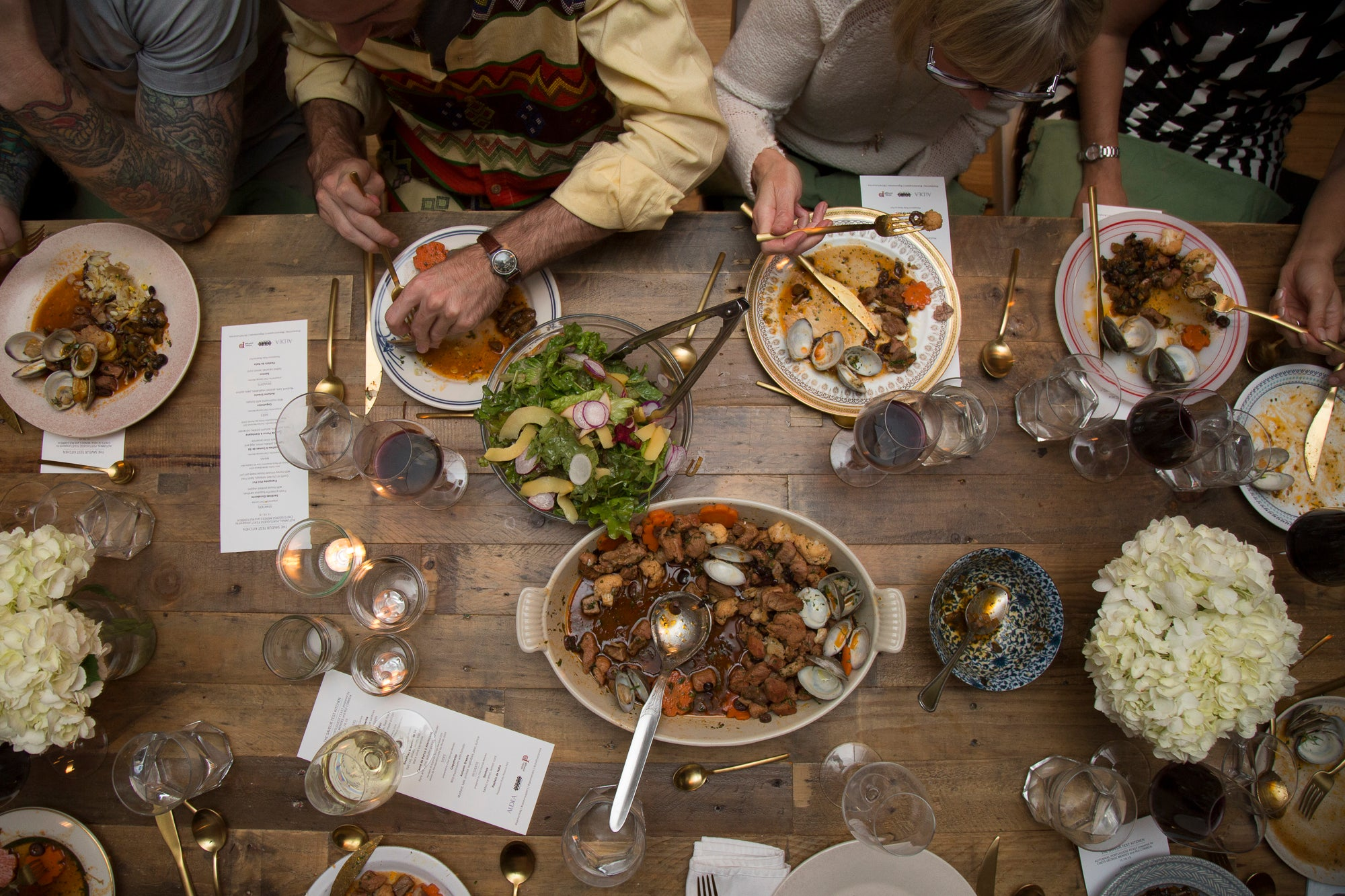 Overhead Table Shot, Saveur Suppers